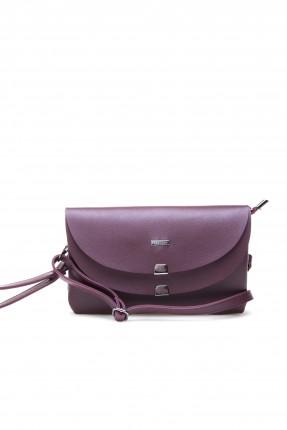 حقيبة يد نسائية طبقتين - خمري