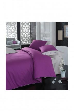 طقم غطاء سرير مزدوج - بنفسجي
