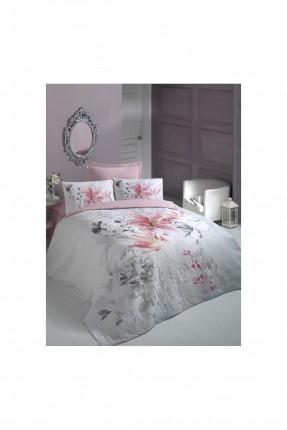 طقم غطاء سرير مزدوج - رسمة زهرة