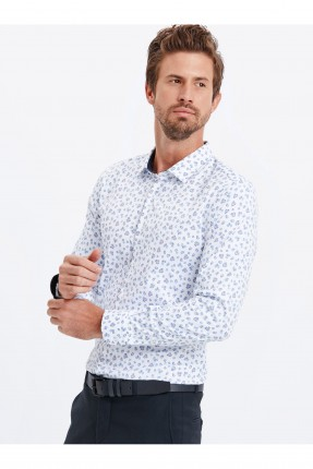 قميص رجالي منقش