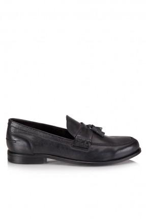 حذاء رجالي بدون رباط - اسود