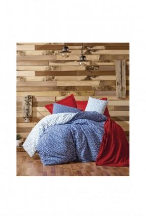 طقم غطاء سرير عرائسي - احمر داكن