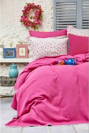 طقم بطانية سرير مزدوج - فوشيا