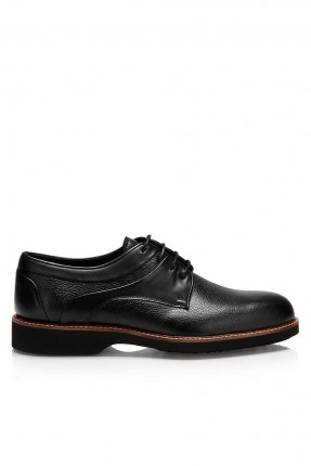 حذاء رجالي كلاسيكي مع رباط - اسود