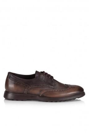 حذاء رجالي كاجوال مع رباط - بني
