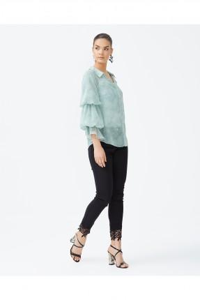 قميص نسائي - اخضر فاتح