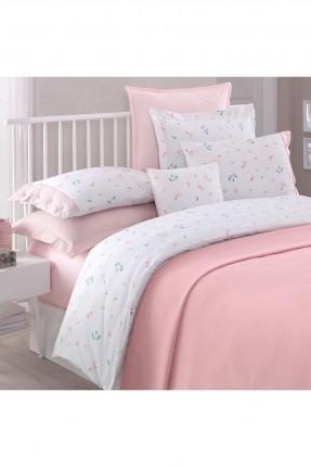 طقم غطاء سرير مزدوج - وردي