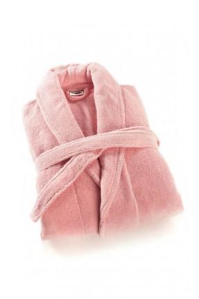 برنص حمام نسائي مع حزام - وردي