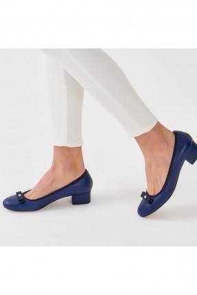 حذاء نسائي ببيون - ازرق داكن