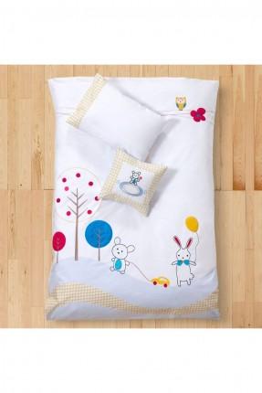 طقم غطاء سرير بيبي ولادي مع رسمات