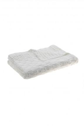 بطانية سرير بيبي - ابيض