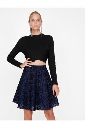 تنورة قصيرة دانتيل - ازرق داكن