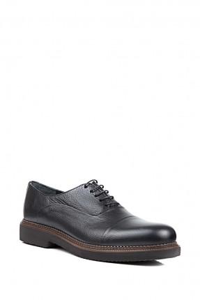 حذاء رجالي مع رباطات - اسود