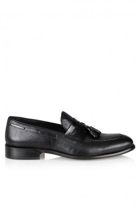 حذاء رجالي مزين بربطة - اسود