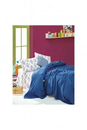 طقم بطانية سرير فردي - ازرق داكن