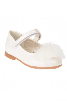 حذاء بيبي بناتي مع فرو