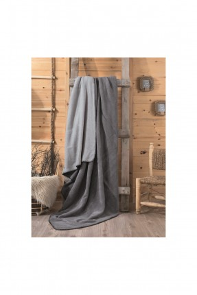 بطانية مزدوجة - رمادي