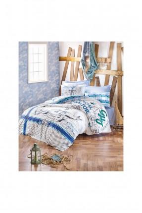طقم غطاء سرير مزدوج مع رسمات