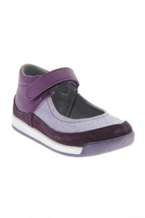 حذاء بيبي بناتي مع لاصق - بنفسجي