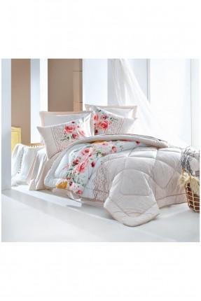 طقم لحاف سرير فردي مورد - بيج