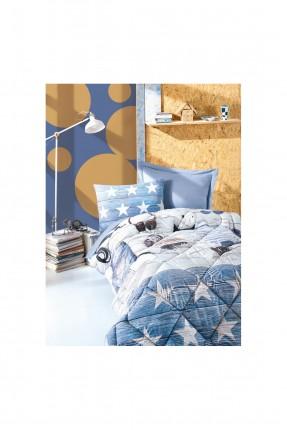 طقم لحاف سرير اطفال ولادي - ازرق