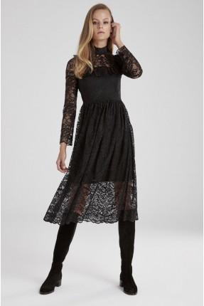 فستان سبور دانتيل - اسود