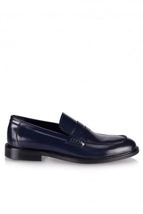 حذاء رجالي مزين بحزام - ازرق داكن