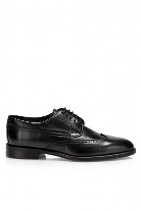 حذاء رجالي مزين - اسود