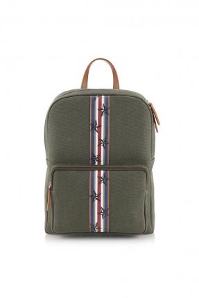 حقيبة ظهر رجالية بسحاب - اخضر
