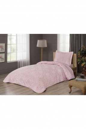 طقم غطاء سرير فردي مورد - وردي