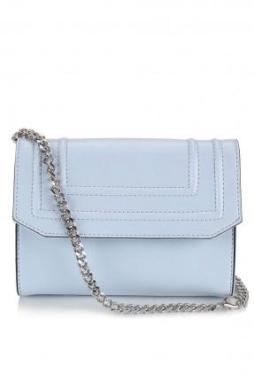 حقيبة يد نسائية بغطاء - ازرق