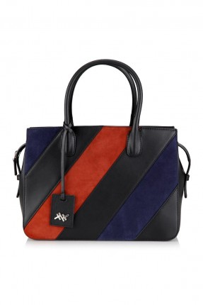 حقيبة يد نسائية بسحاب - ملونة