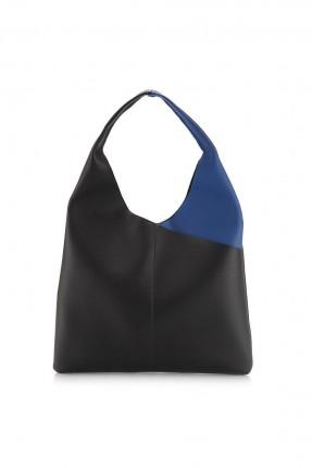 حقيبة يد نسائية - اسود و ازرق داكن