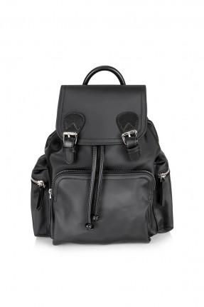 حقيبة ظهر نسائية بغطاء - اسود