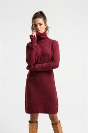 فستان نسائي قصير سبور بياقة عالية