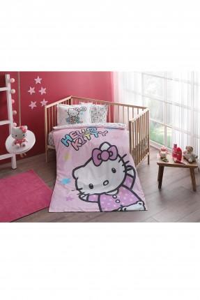 طقم غطاء سرير بيبي بناتي - كيتي