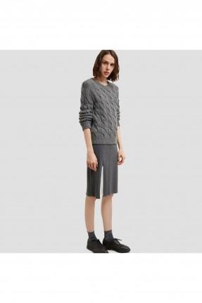 تنورة قصيرة مزينة بشيفون