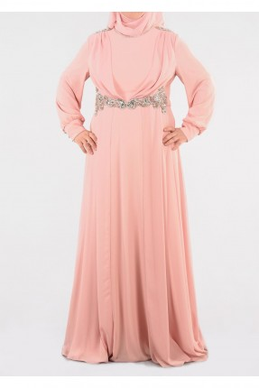 فستان رسمي طويلة شيك - وردي
