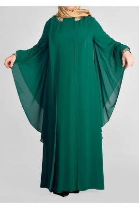 فستان رسمي باكمام فراشة