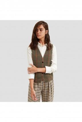 جيليه نسائي رسمي منقوش مع ربطة من الخلف