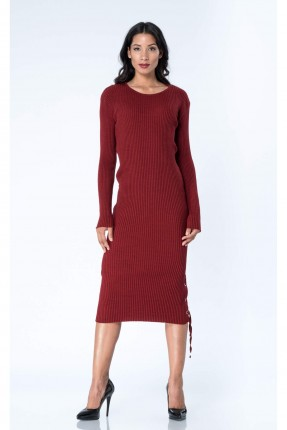 فستان سبور طويل _ خمري
