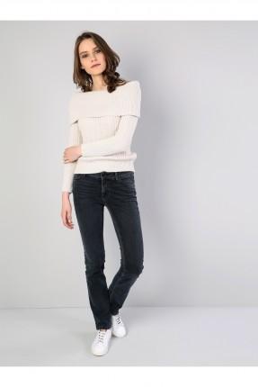 بنطال نسائي جينز مع جيوب سبور