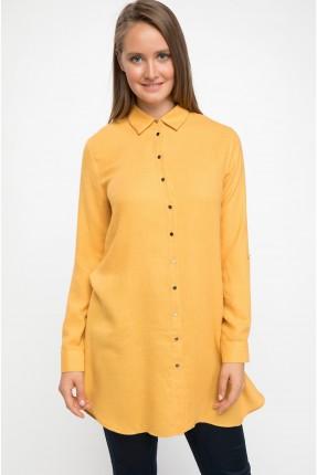 قميص نسائي طويل - اصفر