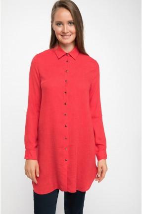 قميص نسائي طويل - احمر