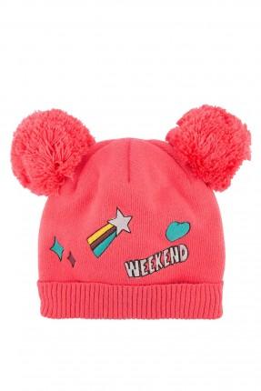 قبعة بيبي بناتي - احمر