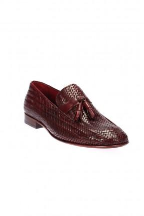 حذاء رجالي مزخرف - بوردو