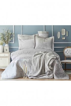 طقم غطاء سرير عرائسي - دانتيل