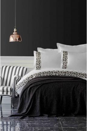 طقم غطاء سرير مزدوج - منقش