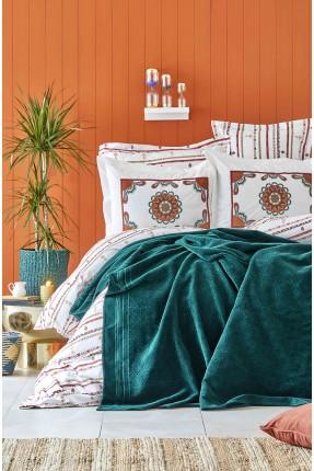 طقم غطاء سرير مزدوج - مزخرف