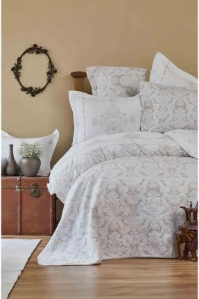 طقم غطاء سرير مزدوج دانتيل - منقش